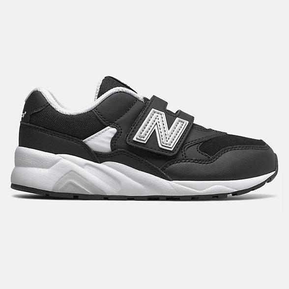 New Balance 580系列儿童复古休闲鞋, YV580EBK