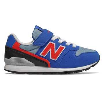 New Balance 996系列儿童经典运动休闲鞋 柔软舒适 稳固耐磨, 蓝色