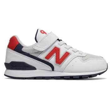 New Balance 996系列儿童休闲运动鞋, 白色