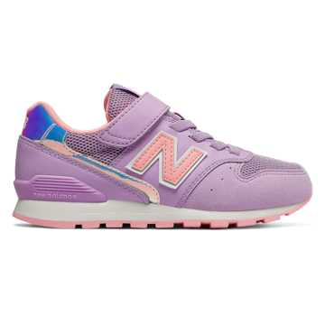 New Balance 996系列儿童经典运动休闲鞋 柔软舒适 稳固耐磨, 浅紫色